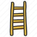 carpentry, construction, furniture, ladder, tool, wooden icon