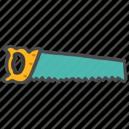 blade, carpentry, cut, plumbing, saw, sharp, tool icon