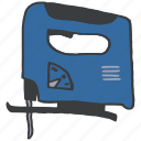 building, carpentry, construction, electric, equipment, saw, tool icon