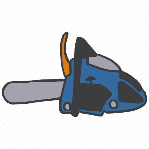 blade, chain, construction, equipment, repair, saw, tool icon