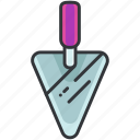 cement, construction, equipment, knife, maintenance, tool icon