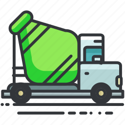 cement, construction, equipment, maintenance, truck, vehicle icon