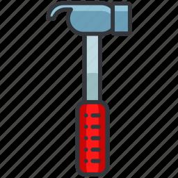 construction, equipment, hammer, maintenance, tool icon