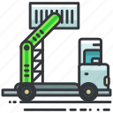 construction, container, equipment, maintenance, tool, truck, vehicle icon