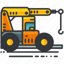 construction, crane, equipment, maintenance, truck, vehicle icon