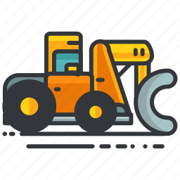 construction, digger, equipment, maintenance, truck, vehicle icon