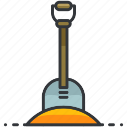 construction, digging, equipment, maintenance, shovel, tool icon