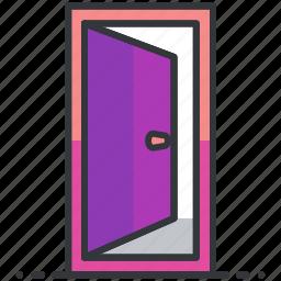 build, construction, door, enterance, equipment icon