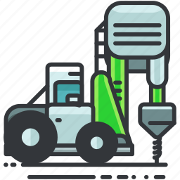 construction, driller, equipment, truck, vehicle icon