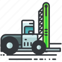 construction, equipment, forklift, truck, vehicle icon