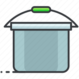 bucket, construction, hanging, maintenance, tool icon
