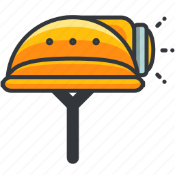 construction, helmet, maintenance, safety, tool icon