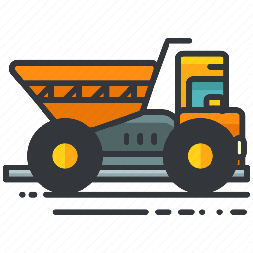 construction, sand, transport, transportation, truck, vehicle icon