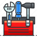construction, hammer, maintenance, screwdriver, tool, toolbelt, wrench icon