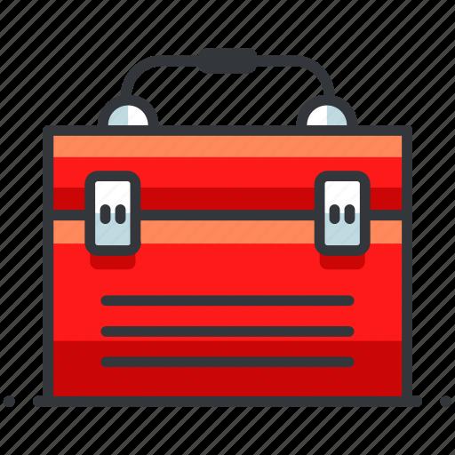 construction, equipment, maintenance, tool, toolbox icon