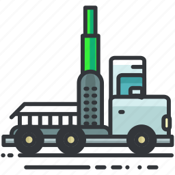 construction, tool, transport, transportation, truck icon