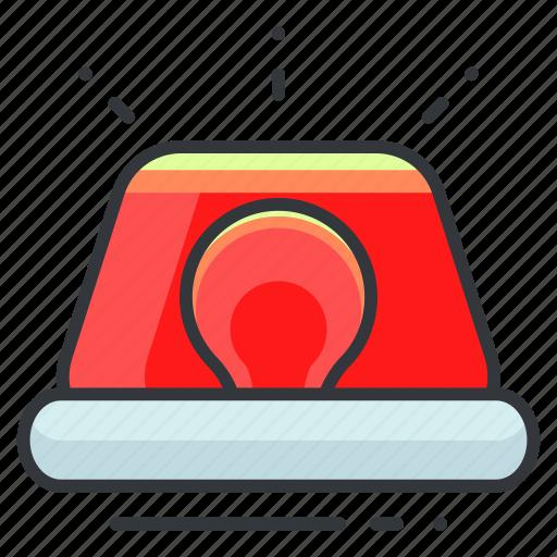 alert, light, notification, siren, warning icon