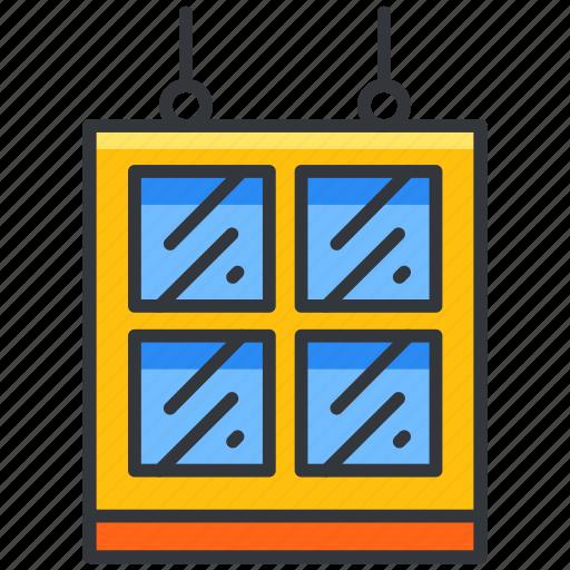 build, construction, equipment, tool, window icon