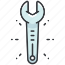 construction, equipment, maintenance, repair, tool, wrench icon