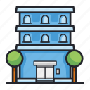 apartment, building, construction, hotel icon