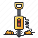 construction, drill, drilling, road drilling icon