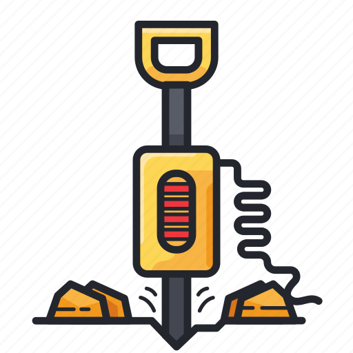Construction, drill, drilling, road drilling icon - Download on Iconfinder