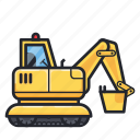 construction, heavy vehicle, tractor, vehicle