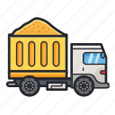 construction, transport, transportation, truck icon