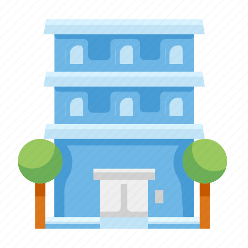 apartment, building, construction, hotel, house icon