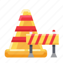 barrier, cones, divider, guide icon