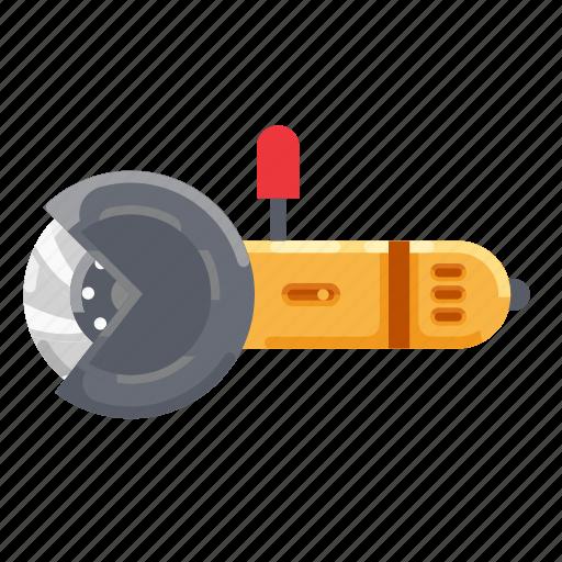 construction, cutting, grinding, grinding wheel, machine, wheel icon