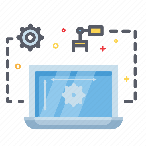 laptop, maintenance, process, progress icon