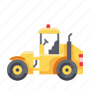 construction, heavy vehicle, tractor, vehicle icon