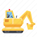 construction, heavy vehicle, machine, tractor, vehicle icon
