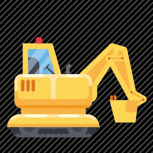 construction, heavy vehicle, machine, tractor, vehicle icon
