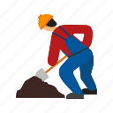 building, construction, man, repair, sign board, work, working icon