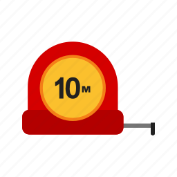 building, construction, equipment, measurement, measuring tape, scale, tool icon