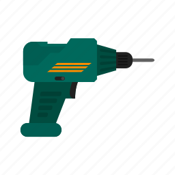 drill, drill machine, drilling, jackhammer, renovation, tinkering icon