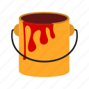 bucket, colorant, container, paint, paint box, tank icon