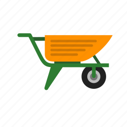 cement, cementing, construction, equipment, hand carry, trolley icon