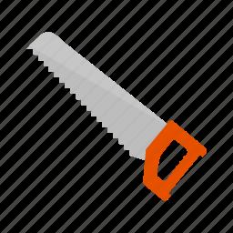 construction, cut, equipment, handsaw, tool, wood work, work icon