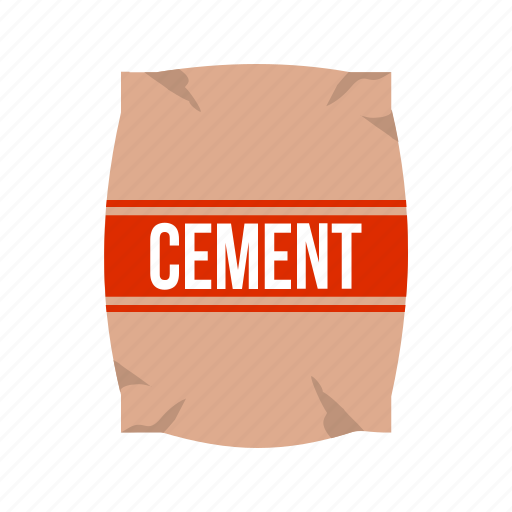 Bag, cement, concrete, construction, container, plaster, raw material icon - Download on Iconfinder