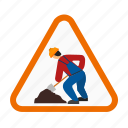 building, repair, working, work, construction, sign board, man icon