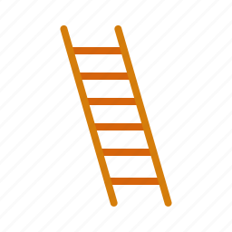 building, construction, height, high, ladder, stairs, work icon