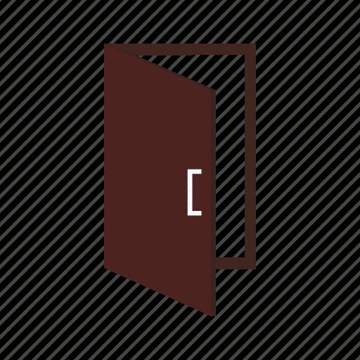 door, doorway, entrance, exit, house, interior, room icon