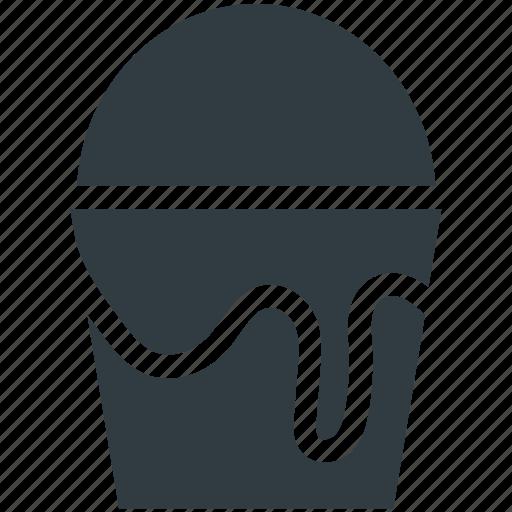 bucket, color bucket, pail, paint, paint bucket icon