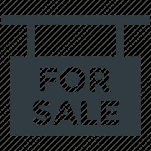 For sale sign, hanging sign, placard, real estate sign, sale banner icon - Download on Iconfinder