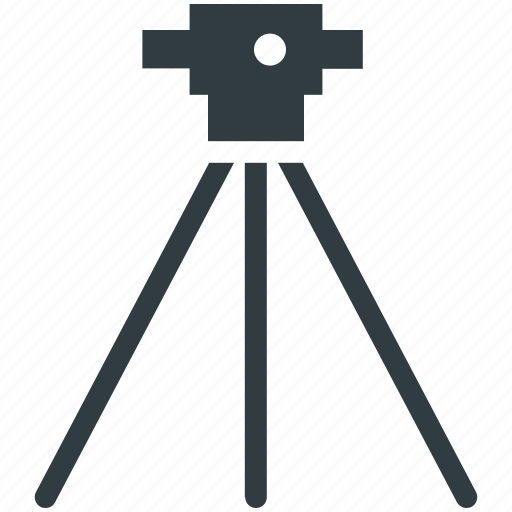 construction, survey theodolite, theodolite, tripod, tripod stand icon