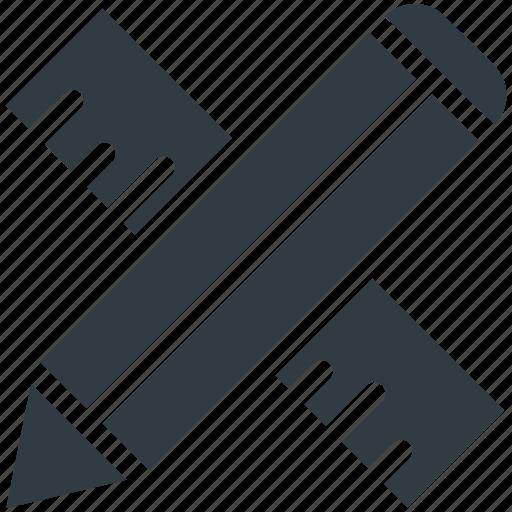 architecture ruler, pencil, pencil ruler, ruler, ruler tool icon