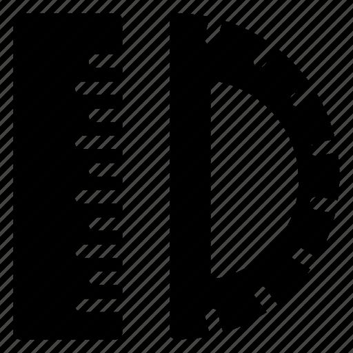 design, draw, geometry, protractor icon